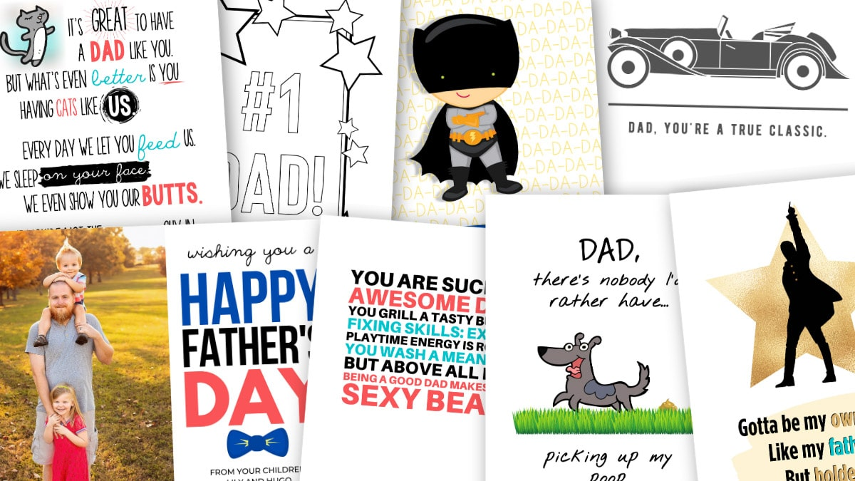 19 Printable Father S Day Cards Dad Will Actually Want