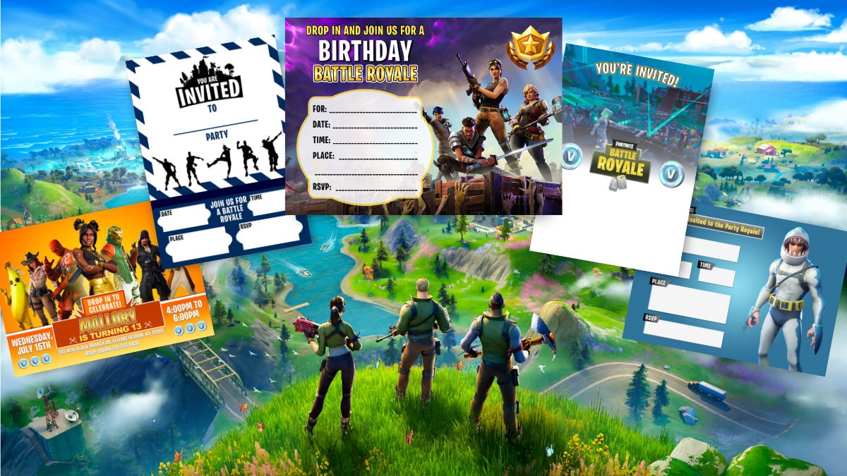 18 Free Printable Fortnite Invitations For Birthdays And More